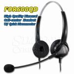 HION FOR600QD – Binaural Headset For Landline Telephone Call Center