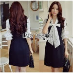 Chiffon and Crepe Dress Lady Ribbon ขายเดรส