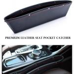 ที่ใส่ของข้างเบาะรถยนต์ แบบหนัง ที่จัดระเบียบในรถ กล่องใส่ของเสียบช่องระหว่างเบาะในรถ Premium Leather Seat Pocket Catcher