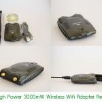 USB High Power 3000mW Wifi Adapter Receiver เสาคู่ เปลี่ยนเสาได้