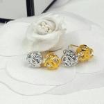 Chanel Earring งาน 5 ไมครอนอย่างดี งานเพชร CZ แท้ ประดับโลโก้ชาแนลหน้าเพชร ฝังอย่างดี