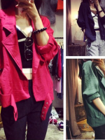 เสื้อแจ็คเก็ต/คาร์ดิแกนแฟชั่นแขนยาว มี 3 สี