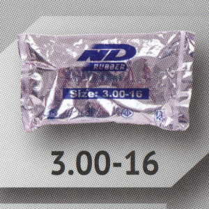 3.00-16 TR4 ยางใน ยี่ห้อ ND RUBBER (เทียบเท่า 90/90-16)