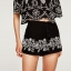 ZARA SHORTS WITH FLORAL EMBROIDERY thumbnail 1