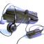 V201 หูฟัง Headset สำหรับโทรศัพท์บ้านและคอลล์เซนเตอร์มาพร้อมกับ Smart Box thumbnail 1