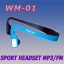 WM-01 TF CARD SPORT HEADSET MP3 PLAYER WITH FM thumbnail 1