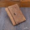 กระเป๋าสตางค์ผู้ชาย หนังแท้ พับ 3 ตอน รุ่น MS - สีน้ำตาล