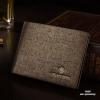 กระเป๋าสตางค์ผู้ชาย ทรงสั้น Chuancheng - สีน้ำตาลทอง