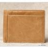 กระเป๋าสตางค์ผู้ชาย หนังแท้ ทรงสั้น T0183 - สีน้ำตาล