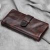 กระเป๋าสตางค์ผู้ชาย หนังแท้ ทรงยาว Long Leather Dark - สีน้ำตาลเข้ม