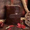 กระเป๋าสตางค์ผู้ชาย หนังแท้ ทรงตั้ง Ven Leather Wax - สีน้ำตาลเข้ม