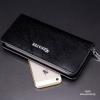กระเป๋าสตางค์ผู้ชาย ทรงยาว ซิปรอบ Denater Zipper - สีดำ