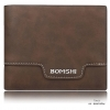 กระเป๋าสตางค์ผู้ชาย ทรงสั้น Bomshi Chocolate - สีน้ำตาลเข้ม