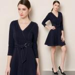 DR_9121 (pre-order) ชุดเดรสสีกรมท่า แท้ 100%, 2017, Dress, Navy Blue, S-M-L-XL