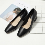 SH_1496 (pre-order) รองเท้าคัทชูหนังแกะ แท้ 100% 4.5cm, 2017, Shoes, Grey-Black, Size 34-41