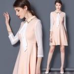 DR_9127 (pre-order) ชุดเดรสสีชมพูพีช แบรนด์แท้, 2017, Dress, PinkOrange-Orose, S-M-L-XL