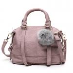 BG_3017 (pre-order) กระเป๋าถือพร้อมสายสะพาย ประดับพู่, 2017, Bag, Black-Blue-Grey-Pink