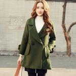 CO_7911 (pre-order) เสื้อกันหนาว เสื้อโค้ท, 2017, Winter, Green, Red Wine, S-M-L-XL