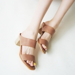 SH_1505 (pre-order) รองเท้าเปิดส้น Sandals, 2017, Shoes, Beige-Brown, Size 35-40