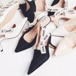 SH_1506 (pre-order) รองเท้ารัดส้นหัวปลา, 2017, Shoes, Black-White, Size 34-40