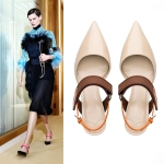 SH_1508 (pre-order) รองเท้ารัดข้อ สไตล์ยุโรป, 2017, Shoes, Beige-Red, Size 34-40