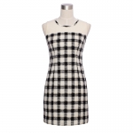 DR_8939 (pre-order) ชุดเดรสลายสก๊อตแขนกุด, 2016, Dress, Black, S-M-L-XL
