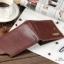 กระเป๋าสตางค์ผู้ชาย หนังแท้ ทรงสั้น Shidai Piroyce - สีน้ำตาล thumbnail 8