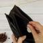 กระเป๋าสตางค์ผู้ชาย หนังแท้ ทรงยาว มีช่องซิปใส่เหรียญ - สีน้ำตาลเข้ม thumbnail 9