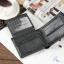 กระเป๋าสตางค์ผู้ชาย หนังแท้ ทรงสั้น Shidai Piroyce - สีดำ thumbnail 6
