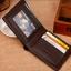 กระเป๋าสตางค์ผู้ชาย ทรงสั้น รุ่น SEVJINK SQ - สีน้ำตาลเข้ม thumbnail 6