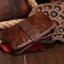 กระเป๋าสตางค์ผู้ชาย หนังแท้ ทรงตั้ง Ven Leather Wax - สีน้ำตาลเข้ม thumbnail 5