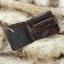 กระเป๋าสตางค์ผู้ชาย หนังแท้ ทรงสั้น Short Leather Wax - สีน้ำตาลเข้ม thumbnail 8