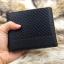 กระเป๋าสตางค์ผู้ชาย ทรงสั้น ลายสก๊อต Sevjink S - สีดำ thumbnail 10