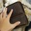 กระเป๋าสตางค์ผู้ชาย หนังแท้ ทรงตั้ง Ven Leather Zipper - สีน้ำตาลอ่อน thumbnail 8