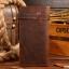 กระเป๋าสตางค์ผู้ชาย หนังแท้ ทรงยาว Wallet Long Leather - สีน้ำตาล thumbnail 2