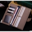 กระเป๋าสตางค์ผู้ชาย ทรงยาว JI&XIA Button Metal Navy - สีน้ำเงิน thumbnail 4