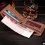 กระเป๋าสตางค์ผู้ชาย ทรงสั้น BOGESI รุ่น Clear - สีน้ำตาล thumbnail 4