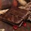 กระเป๋าสตางค์ผู้ชาย หนังแท้ ทรงสั้น Short Leather Wax - สีน้ำตาลเข้ม thumbnail 3