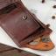 กระเป๋าสตางค์ผู้ชาย หนังแท้ ทรงสั้น Shidai Piroyce - สีน้ำตาล thumbnail 9