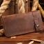 กระเป๋าสตางค์ผู้ชาย หนังแท้ ทรงยาว Wallet Long Leather - สีน้ำตาล thumbnail 3