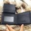 กระเป๋าสตางค์ผู้ชาย ทรงสั้น ลายสก๊อต Sevjink S - สีดำ thumbnail 8