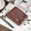 กระเป๋าสตางค์ผู้ชาย หนังแท้ ทรงสั้น Shidai Piroyce - สีน้ำตาล thumbnail 7