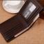 กระเป๋าสตางค์ผู้ชาย ทรงสั้น รุ่น SEVJINK SQ - สีน้ำตาลเข้ม thumbnail 4