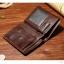 กระเป๋าสตางค์ผู้ชาย หนังแท้ ทรงตั้ง Leather - สีน้ำตาล thumbnail 2
