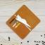 กระเป๋าสตางค์ผู้ชาย หนังแท้ ทรงตั้ง ใส่มือถือและเสียบสายชาร์ตได้ - สีน้ำตาลอ่อน thumbnail 2