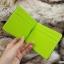 กระเป๋าสตางค์ผู้ชาย แบบหนีบแบงค์ รุ่น Slip Slim - สีเขียว thumbnail 7