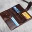 กระเป๋าสตางค์ผู้ชาย หนังแท้ ทรงยาว Long Leather Dark - สีน้ำตาลเข้ม thumbnail 2