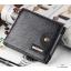กระเป๋าสตางค์ผู้ชาย หนังแท้ ทรงสั้น Shidai Piroyce - สีดำ thumbnail 2