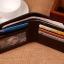 กระเป๋าสตางค์ผู้ชาย ทรงสั้น รุ่น SEVJINK SQ - สีน้ำตาลเข้ม thumbnail 5