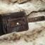 กระเป๋าสตางค์ผู้ชาย หนังแท้ ทรงสั้น Short Leather Wax - สีน้ำตาลเข้ม thumbnail 12
